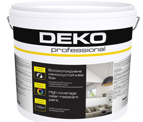 Професионални бои за стени и тавани DEKO professional
